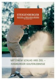 Golferlebnisse Prospekt - Steigenberger Hotels and Resorts