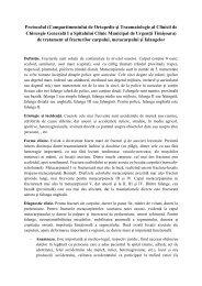 Protocolul fracturilor carpului, metacarpului si falangelor