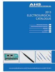 AHS Electrosurgical Catalogue - Ahsonline.ca