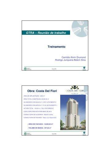 GTRA – Reunião de trabalho Treinamento Obra: Costa Del Fiori