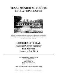 San Antonio Clerks Introduction BINDER.pdf - Texas Municipal ...