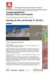 Kurs Geologie Wetter Fotografie - Zentralschweizer Schneesport ...