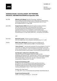 MODENSCHAUEN / AUSSTELLUNGEN ... - Akademie JAK