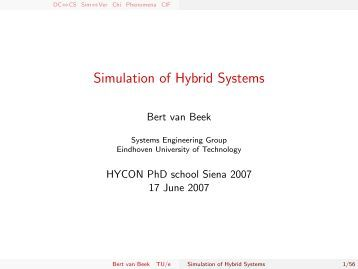 Simulation of Hybrid Systems - Systems Engineering