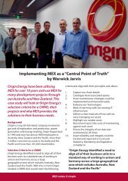 Origin Energy - MEX