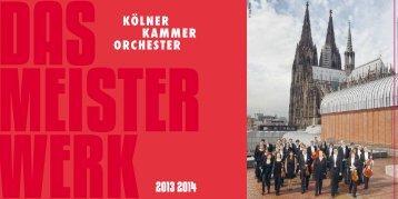 2013 2014 - Kölner Kammerorchester