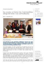 Das wünschen sich Berliner Kids: Friedrichstadt-Palast befragte 500 ...