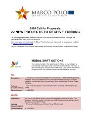 22 NEW PROJECTS TO RECEIVE FUNDING - Shortsea Shipping ...