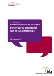 Behavioural, emotional and social difficulties – Self study task 9
