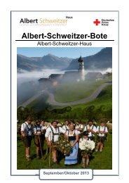 Ausgabe 09-2013 (PDF) - Albert-Schweitzer-Haus