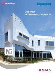 OUT NOW! FASSADEN AUS HI-MACS®. - Rosskopf + Partner