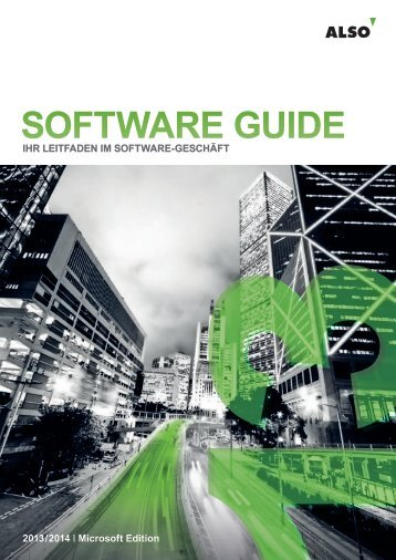 SOFTWARE GUIDE - Microsoft - ALSO Schweiz AG