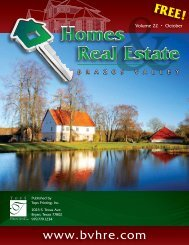 View October issue - Brazos Valley Homes & Real Estate