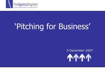 Pitching for Business