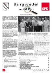 Burgwedel im Fokus, Ausgabe 3 Juli 2008 - SPD Ortsverein ...