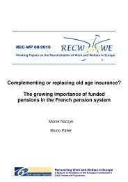 Complementing or replacing old age insurance? - Social Policy at ...
