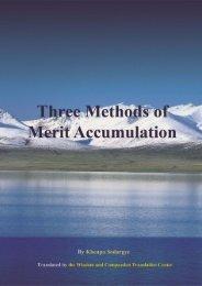 Download:Three Methods of Merit Accumulation(PDF file) - Khenpo ...
