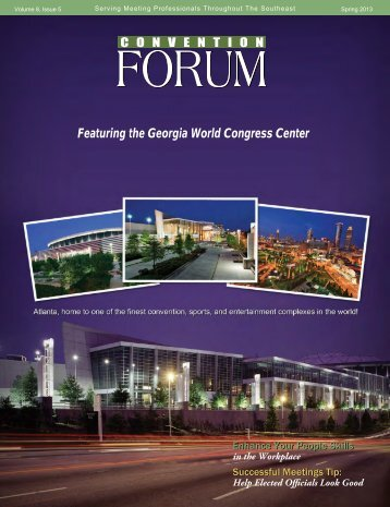 Featuring the Georgia World Congress Center - Convention Forum