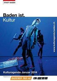 Kulturagenda Januar 2014 - Veranstaltungen - Stadt Baden