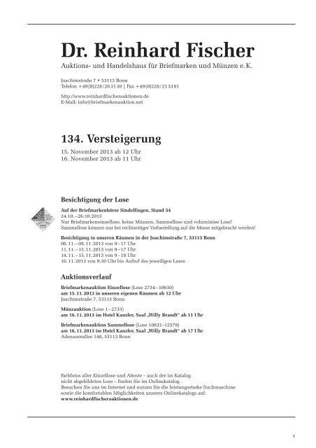 Pdf Des Briefmarkenkatalogs Der 134 Auktion Anzeigen