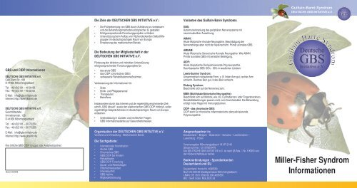 Miller-Fisher Syndrom Informationen - GBS Initiative e.V.
