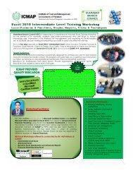 Workshop Facilitator - Institute of Cost and Management ...