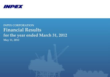 Financial Results for the year ended March 31, 2012 Presentation ...