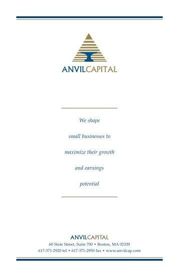 Anvil Capital Brochure Jan 06.qxd