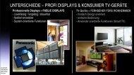Unterschiede zwischen Panasonic Profi-Displays ... - visualounge