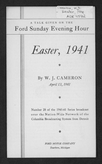 Easter, 1941