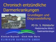 Grundlagen und Diagnosestellung - SHG MC CU Bayreuth
