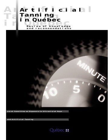 Artificial Tanning in Québec - Review of knowledge and ...