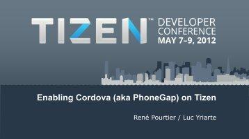 Enabling Cordova (aka PhoneGap) on Tizen
