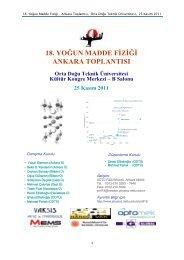 YMF18 özet kitapçığı - Department of Physics