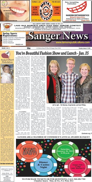 You're Beautiful Fashion Show and Lunch - Jan. 25