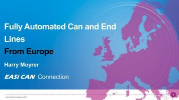 Fully Automated Can and End Lines From Europe - Asia CanTech