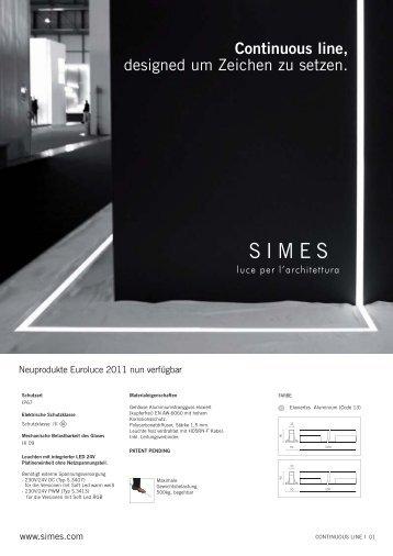 Continuous line, designed um Zeichen zu setzen. - Simes.com