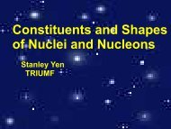 Constituents and Sizes of Nuclei and Nucleons - Triumf