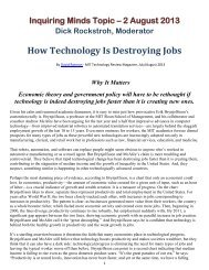 How Technology Is Destroying Jobs - Shell Point Information