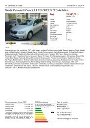 Skoda Octavia 2.0 TDI DPF Elegance Green Tec ... - Auto Bayer OHG