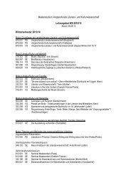Lehrveranstaltungsverzeichnis WS 2013/14