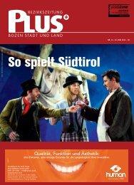 So spielt Südtirol - Zu den Bezirkszeitungen