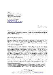 Stellungnahme zum Referentenentwurf für ein ... - Frank-CS.org
