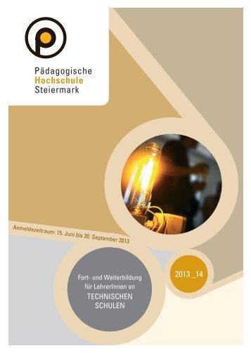Fort- und Weiterbildung Technische Schulen 2013/14