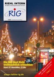 Die RIG lässt Riehl weihnachtlich erleuchten - Riehler ...