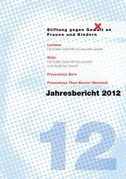 Jahresbericht 2012 - Stiftung gegen Gewalt