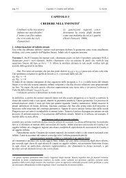 CAPITOLO 3 CREDERE NELL'INFINITO - DMI