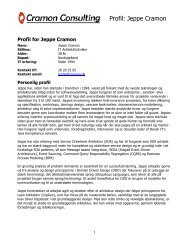 Cramon Consulting profil for Jeppe Cramon