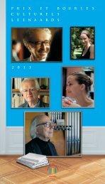 Prix et bourses culturels Leenaards 2013 : les lauréats sont connus