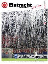 Waldhof Mannheim - Eintracht Frankfurt e.V.